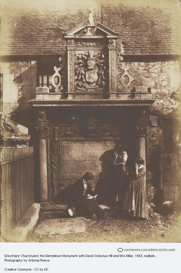 David Octavius Hill, Greyfriars Churchyard, the Dennistoun Monument with David Octavius Hill and Mrs Millar
