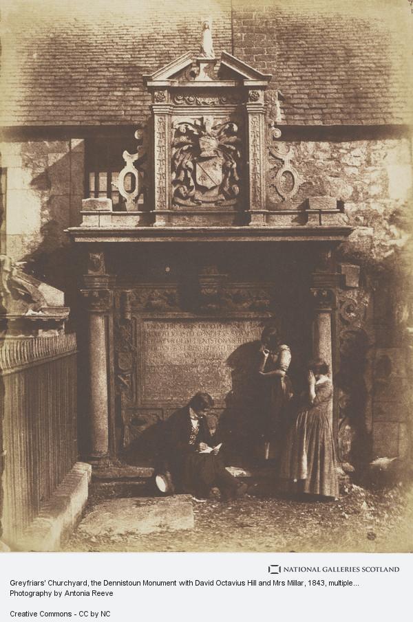 David Octavius Hill, Greyfriars Churchyard, the Dennistoun Monument with David Octavius Hill and Mrs Millar
