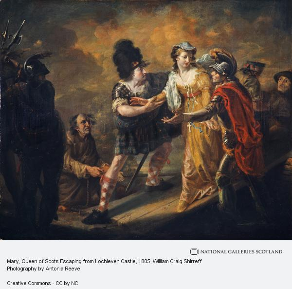 William Craig Shirreff, Mary, Queen of Scots Escaping from Lochleven Castle (1805)