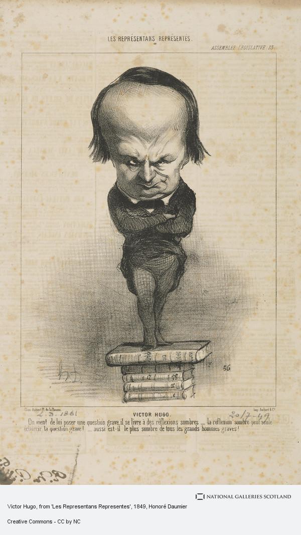 Honoré Daumier, Victor Hugo, from 'Les Representans Representes'