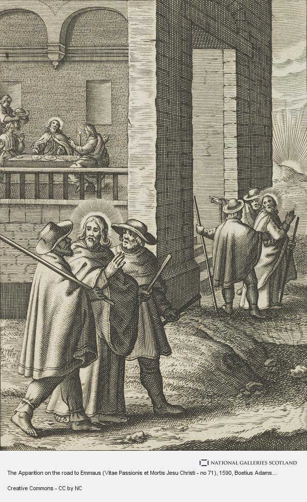 Boetius Adams Bolswert, The Apparition on the road to Emmaus (Vitae Passionis et Mortis Jesu Christi - no 71)