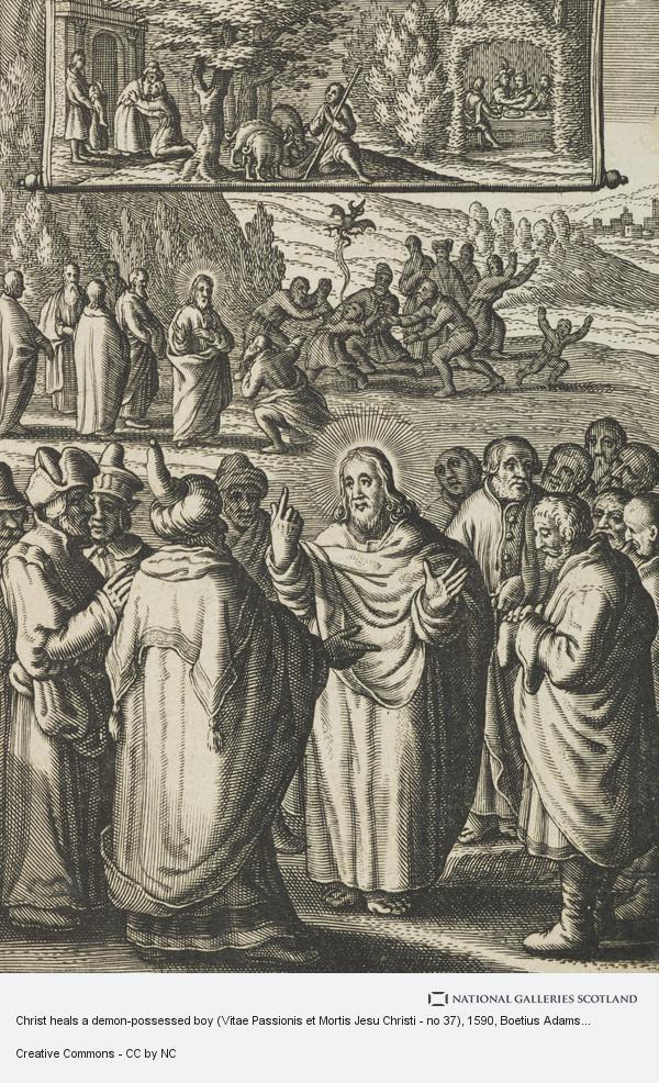 Boetius Adams Bolswert, Christ heals a demon-possessed boy (Vitae Passionis et Mortis Jesu Christi - no 37)