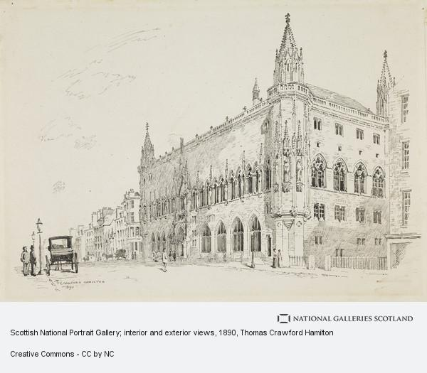 Thomas Crawford Hamilton, Scottish National Portrait Gallery; interior and exterior views (Drawn 1890)