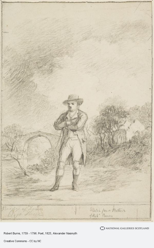 Alexander Nasmyth, Robert Burns, 1759 - 1796. Poet (1825 - 1828)