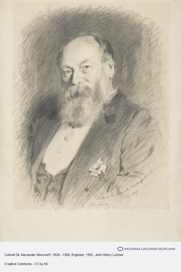 John Henry Lorimer, Colonel Sir Alexander Moncrieff, 1829 - 1906. Engineer