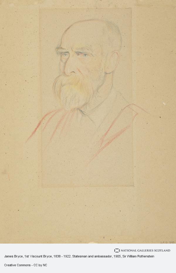 Sir William Rothenstein, James Bryce, 1st Viscount Bryce, 1838 - 1922. Statesman and ambassador