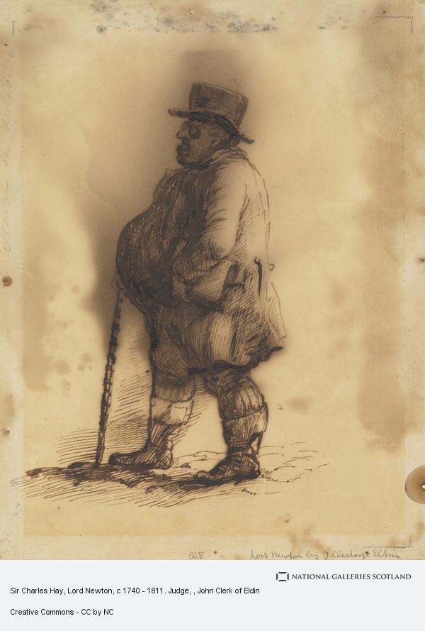 John Clerk, Sir Charles Hay, Lord Newton, c 1740 - 1811. Judge