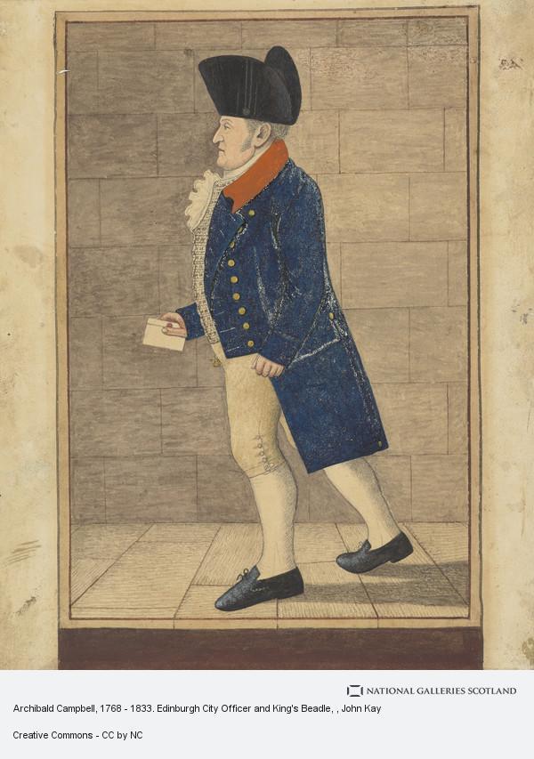 John Kay, Archibald Campbell, 1768 - 1833. Edinburgh City Officer and King's Beadle