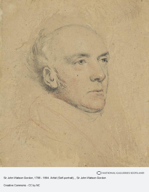 Sir John Watson Gordon, Sir John Watson Gordon, 1788 - 1864. Artist (Self-portrait)
