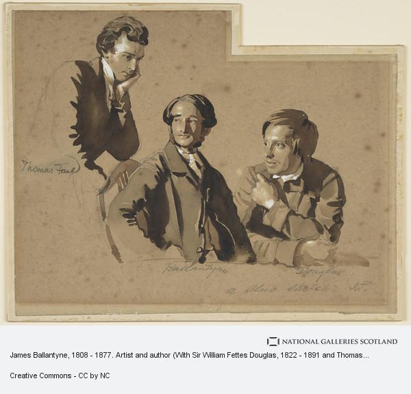 John Faed, James Ballantyne, 1808 - 1877. Artist and author (With Sir William Fettes Douglas, 1822 - 1891 and Thomas Faed, 1825 - 1900. Artists)