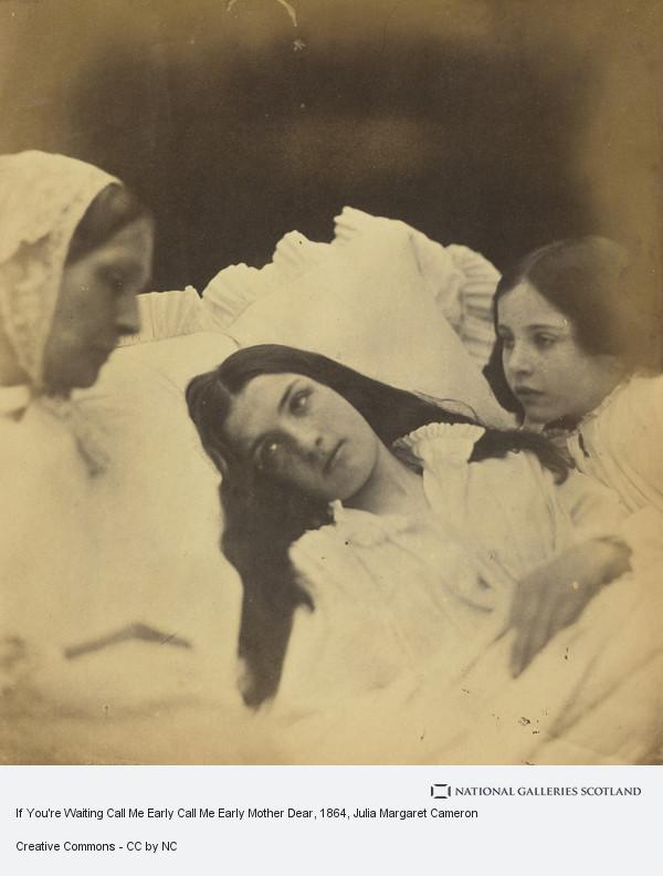 Julia Margaret Cameron, If You're Waiting Call Me Early Call Me Early Mother Dear