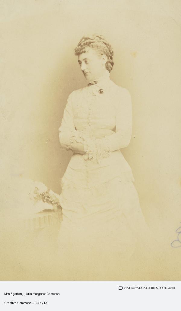 Julia Margaret Cameron, Mrs Egerton