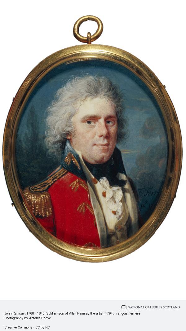 Francois Ferriere, John Ramsay, 1768 - 1845. Soldier; son of Allan Ramsay the artist
