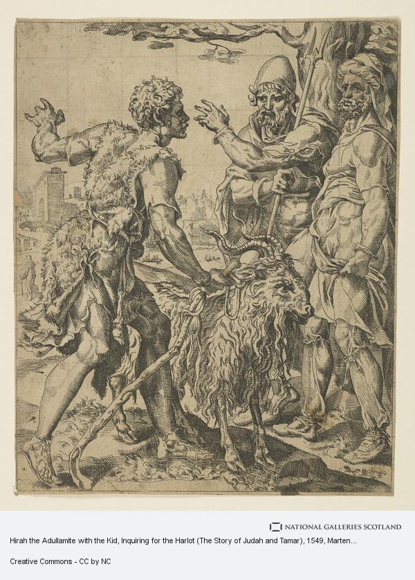 Marten van Heemskerck, Hirah the Adullamite with the Kid, Inquiring for the Harlot (The Story of Judah and Tamar)