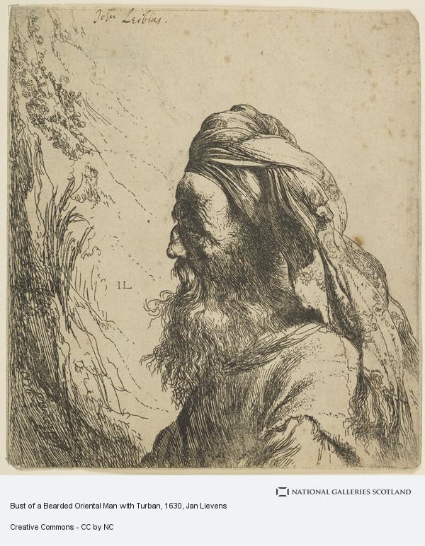 Jan Lievens, Bust of a Bearded Oriental Man with Turban