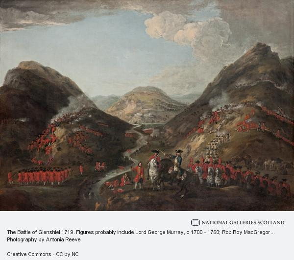 Peter Tillemans, The Battle of Glenshiel 1719. Figures probably include Lord George Murray, c 1700 - 1760; Rob Roy MacGregor, 1671 - 1734; and General Joseph... (1719)