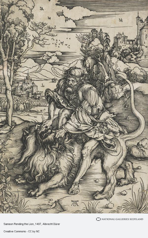 Albrecht Dürer, Samson Rending the Lion