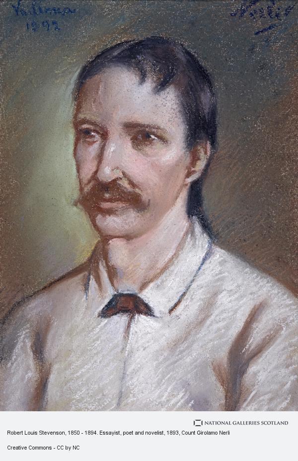 Count Girolamo Nerli, Robert Louis Stevenson, 1850 - 1894. Essayist, poet and novelist