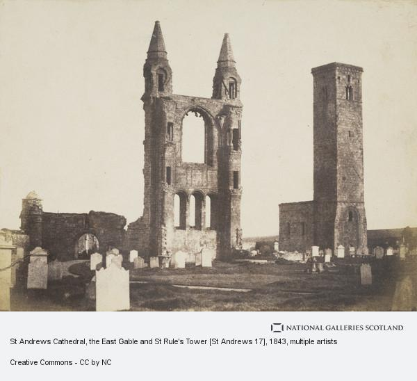 David Octavius Hill, St Andrews Cathedral, the East Gable and St Rule's Tower [St Andrews 17]