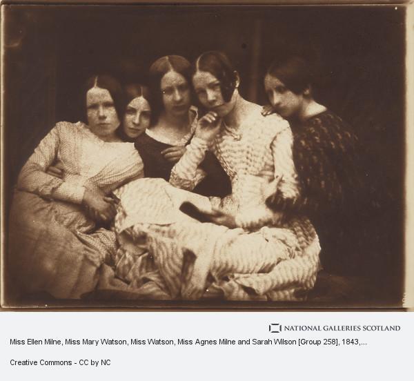 David Octavius Hill, Miss Ellen Milne, Miss Mary Watson, Miss Watson, Miss Agnes Milne and Sarah Wilson [Group 258]
