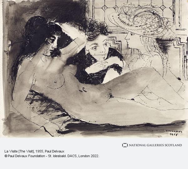 Paul Delvaux, La Visite [The Visit]