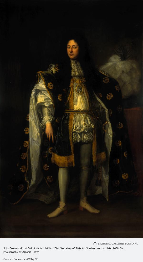 Sir Godfrey Kneller, John Drummond, 1st Earl of Melfort, 1649 - 1714. Secretary of State for Scotland and Jacobite