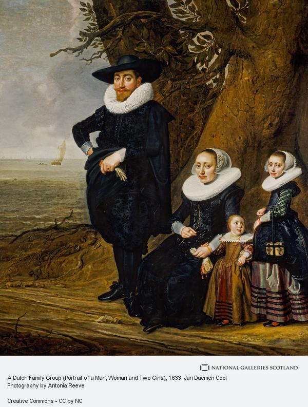 Jan Daemen Cool, A Dutch Family Group (Portrait of a Man, Woman and Two Girls)