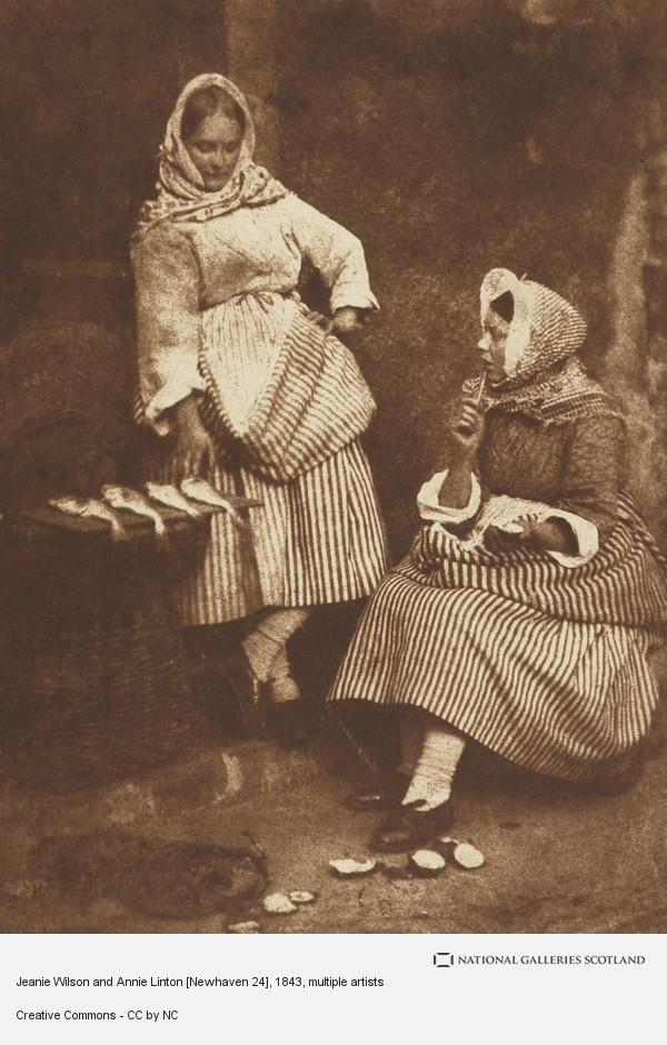 David Octavius Hill, Jeanie Wilson and Annie Linton [Newhaven 24]