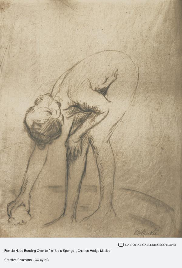 Charles Hodge Mackie, Female Nude Bending Over to Pick Up a Sponge