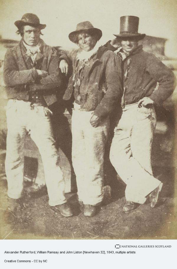 David Octavius Hill, Alexander Rutherford, William Ramsay and John Liston [Newhaven 32]
