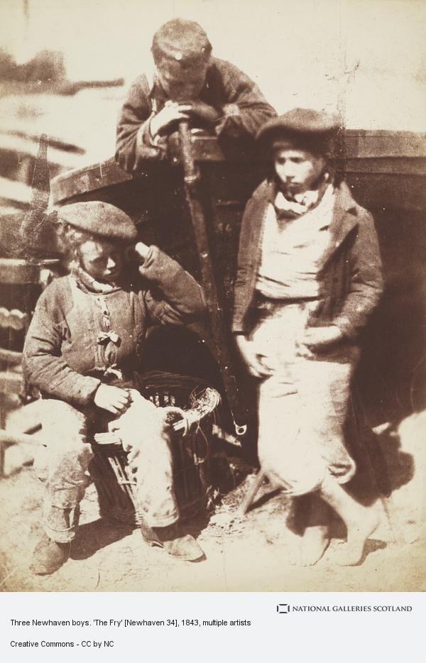 David Octavius Hill, Three Newhaven boys. 'The Fry' [Newhaven 34]