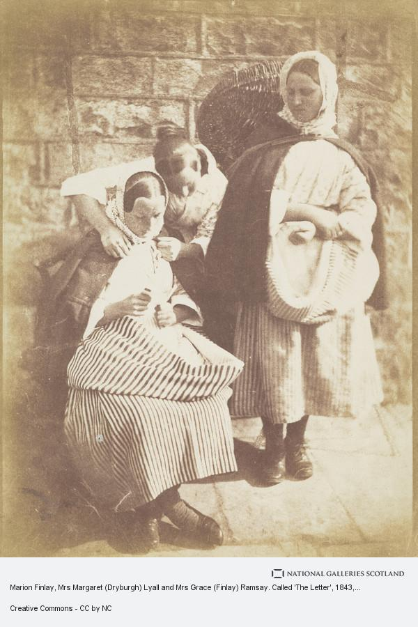Robert Adamson, Marion Finlay, Mrs Margaret (Dryburgh) Lyall and Mrs Grace (Finlay) Ramsay. Called 'The Letter' (1843 - 1847)