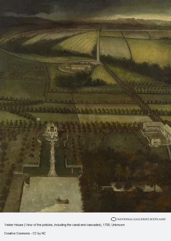 Unknown, Yester House (View of the policies, including the canal and cascades) (About 1700)