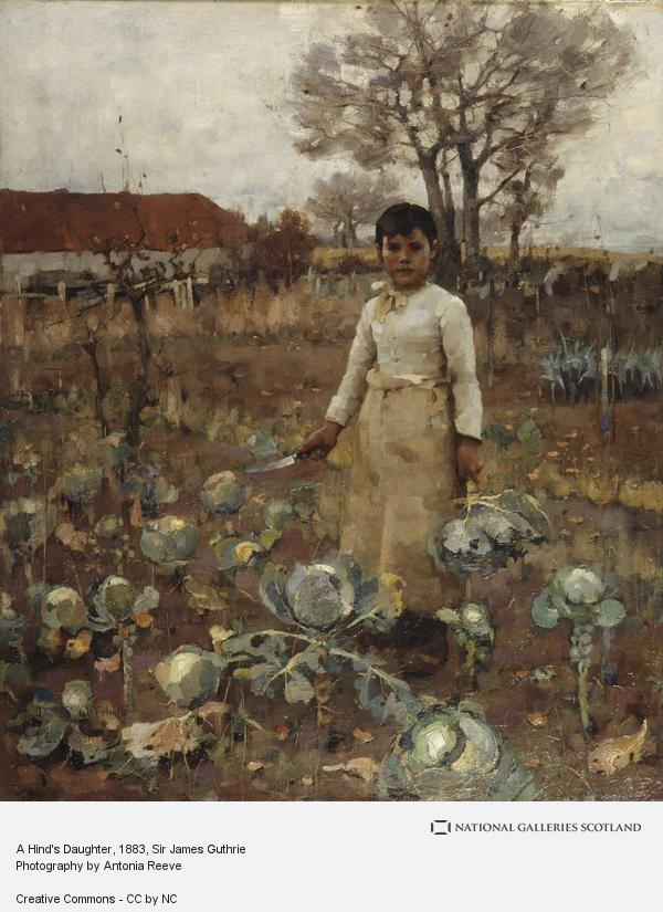 Sir James Guthrie, A Hind's Daughter (1883)