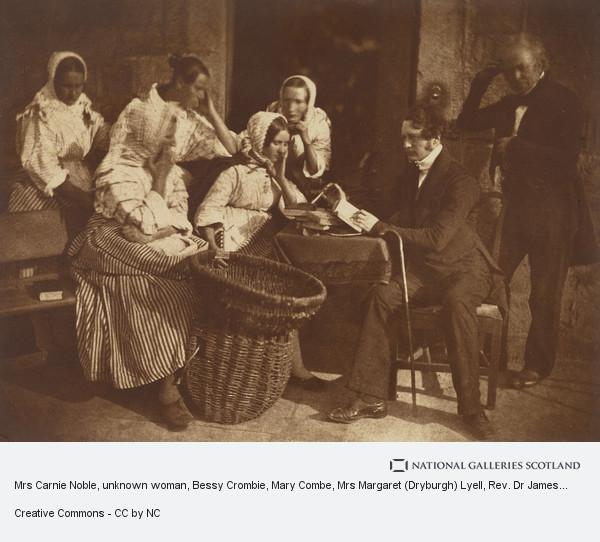 David Octavius Hill, Mrs Carnie Noble, unknown woman, Bessy Crombie, Mary Combe, Mrs Margaret (Dryburgh) Lyell, Rev. Dr James Fairbairn and James Gall. Called 'The...