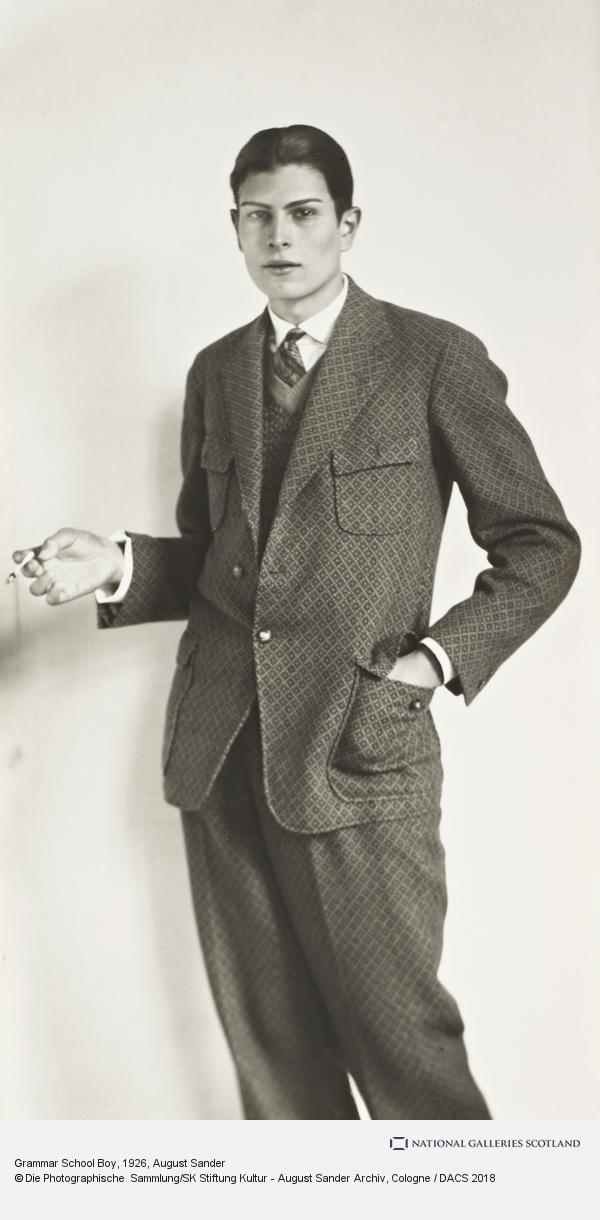 August Sander, Grammar School Boy, 1926 (High School Student) (1926)