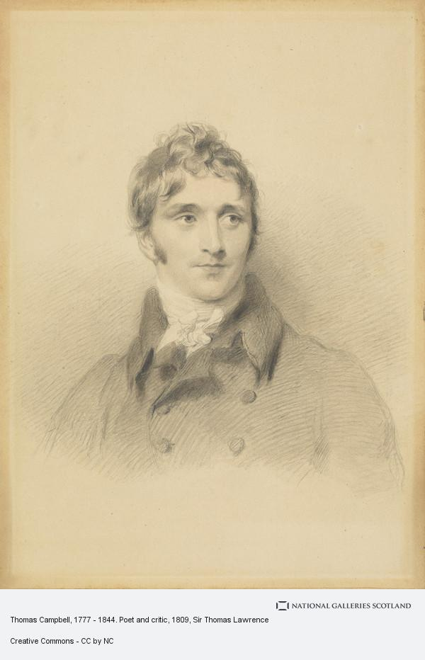 Sir Thomas Lawrence, Thomas Campbell, 1777 - 1844. Poet and critic
