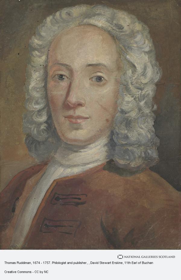 David Steuart Erskine, Thomas Ruddiman, 1674 - 1757. Philologist and publisher