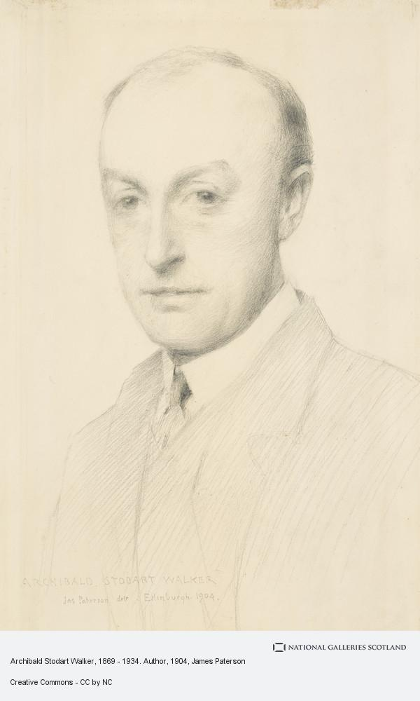 James Paterson, Archibald Stodart Walker, 1869 - 1934. Author