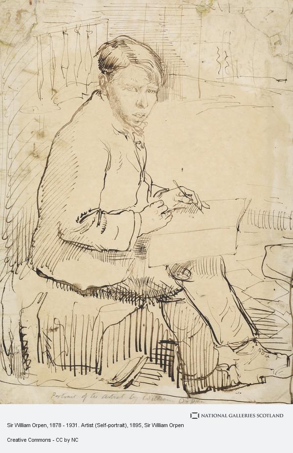 Sir William Orpen, Sir William Orpen, 1878 - 1931. Artist (Self-portrait)