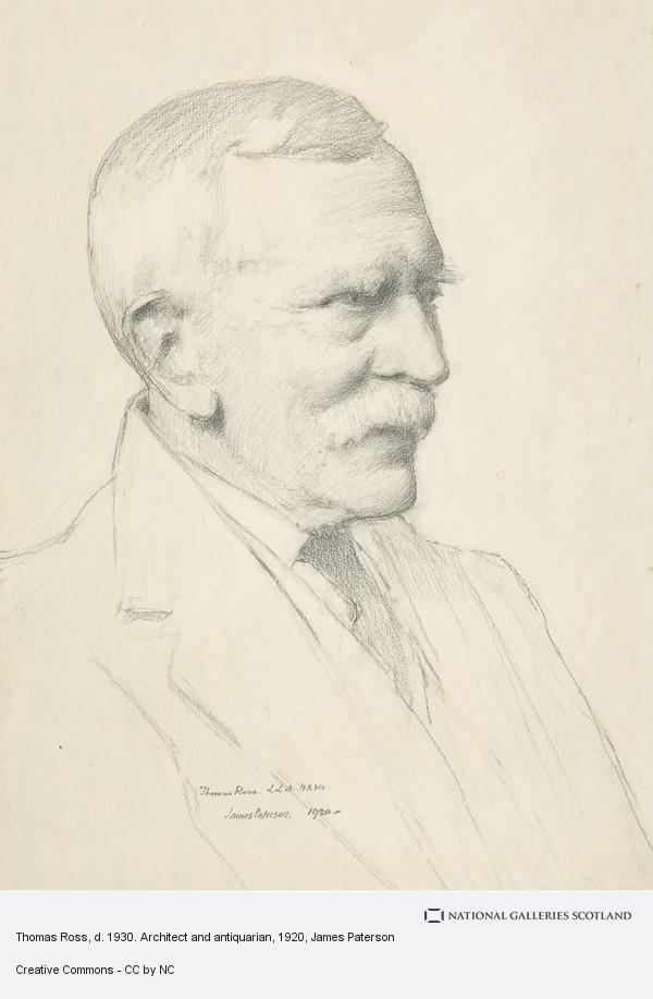 James Paterson, Thomas Ross, d. 1930. Architect and antiquarian