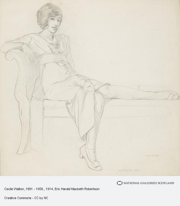 Eric Robertson, Cecile Walton, 1891 - 1956.