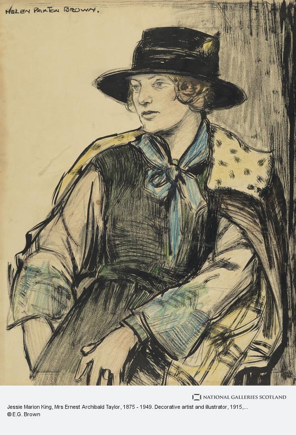 Helen Paxton Brown, Jessie Marion King, Mrs Ernest Archibald Taylor, 1875 - 1949. Decorative artist and illustrator