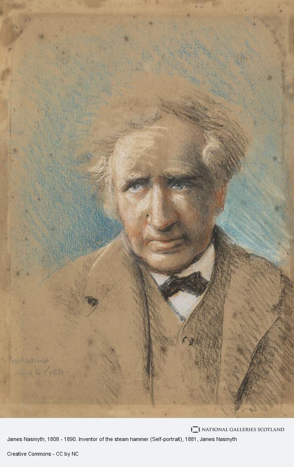 James Nasmyth, James Nasmyth, 1808 - 1890. Inventor of the steam hammer (Self-portrait) (1881)