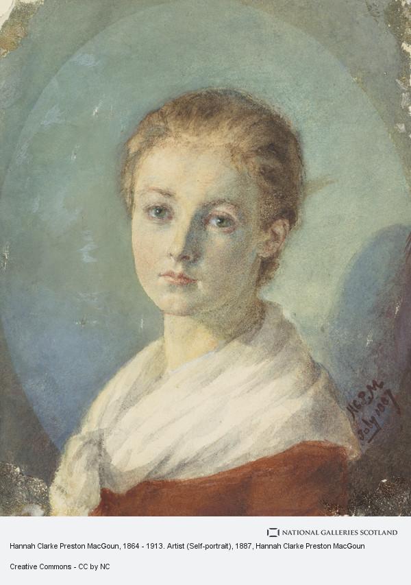 Hannah Clarke Preston MacGoun, Hannah Clarke Preston MacGoun, c 1867 - 1913. Artist (Self-portrait)
