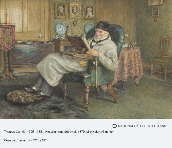 Mrs Helen Allingham, Thomas Carlyle, 1795 - 1881. Historian and essayist