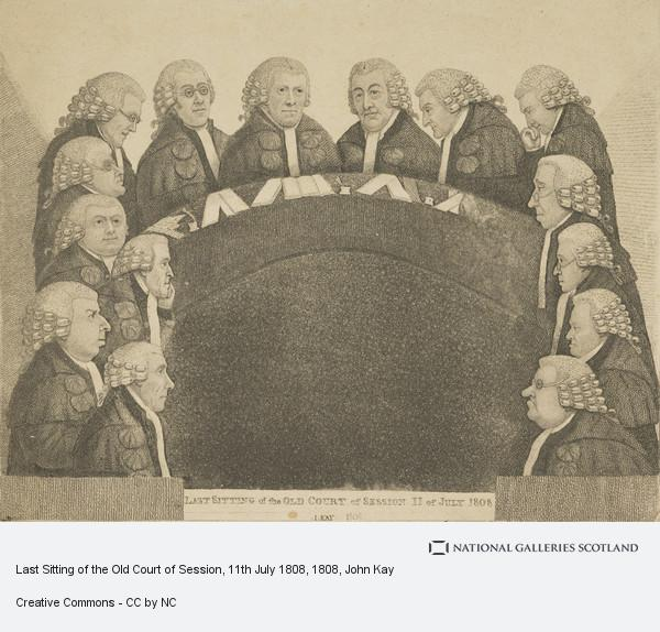 John Kay, Last Sitting of the Old Court of Session, 11th July 1808