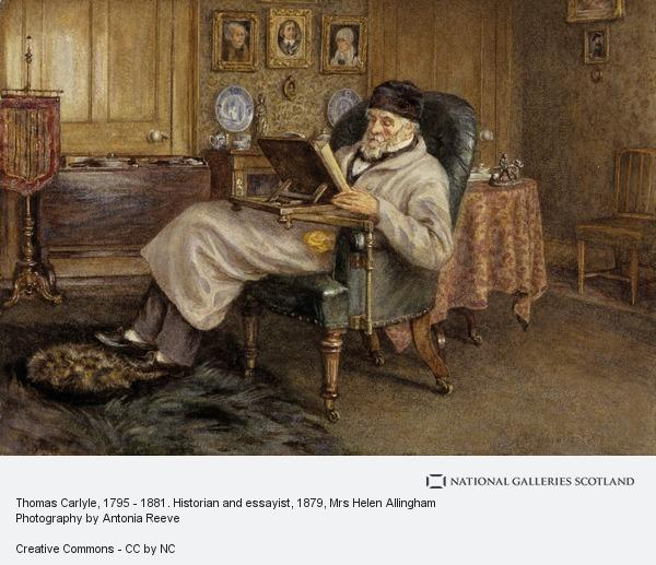 Mrs Helen Allingham, Thomas Carlyle, 1795 - 1881. Historian and essayist (1879)
