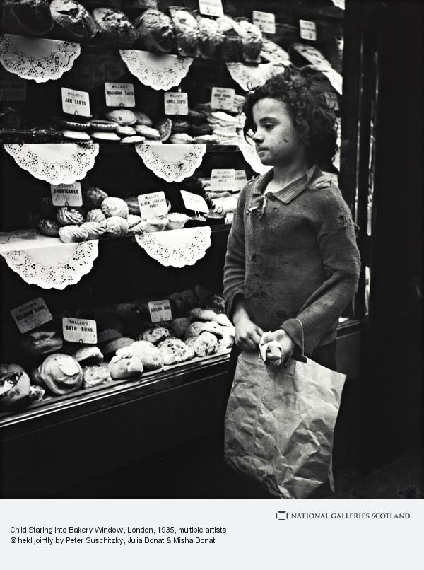 Edith Tudor-Hart, Child Staring into Bakery Window, London