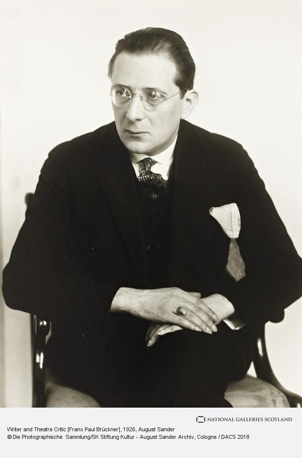 August Sander, Writer and Theatre Critic [Franx Paul Brückner], about 1926 (about 1926)